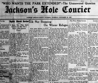 Jacksons Hole Courier Newspaper