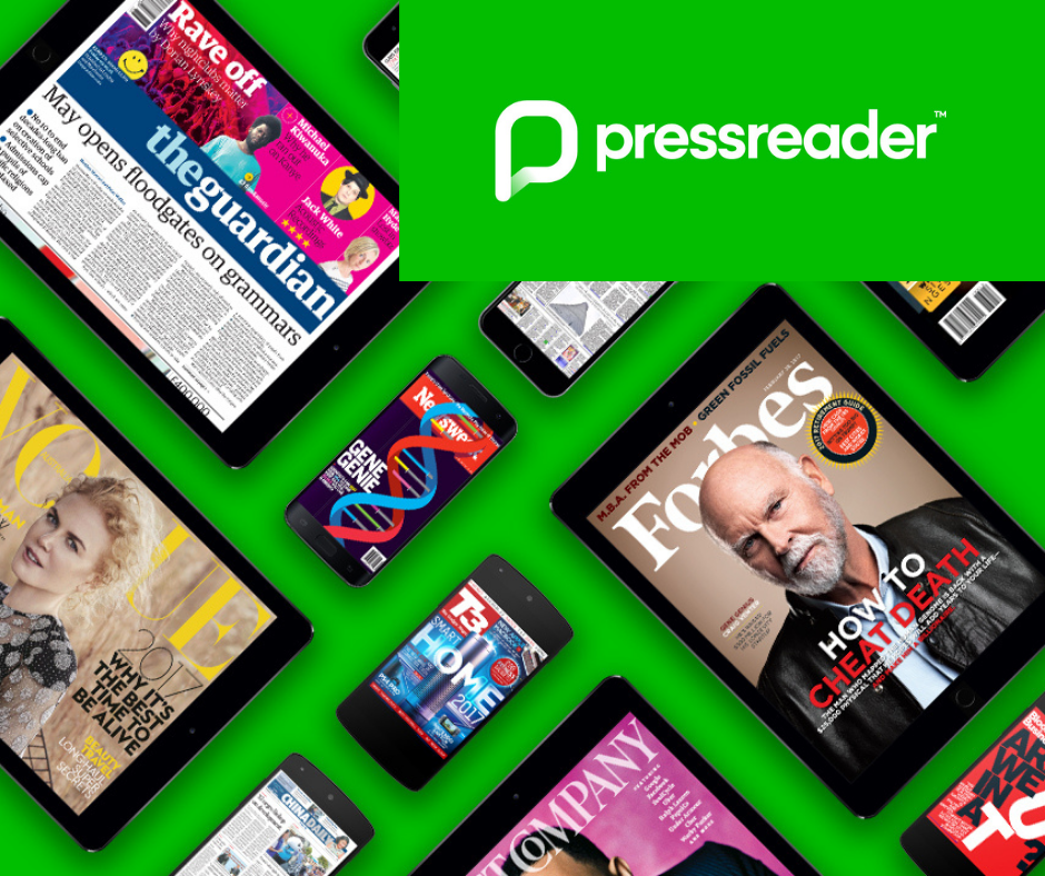 image of the logo for pressreader