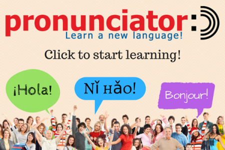 pronunciator learn a new language