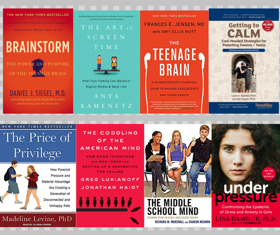 image of book covers about raising teens