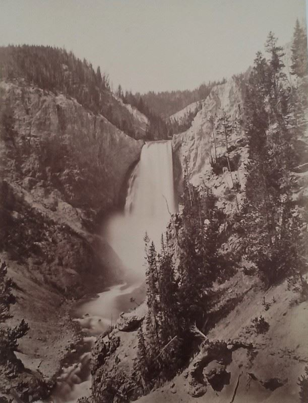 image of waterfall in yellowstone national park