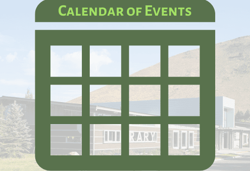 image of calendar with library in background