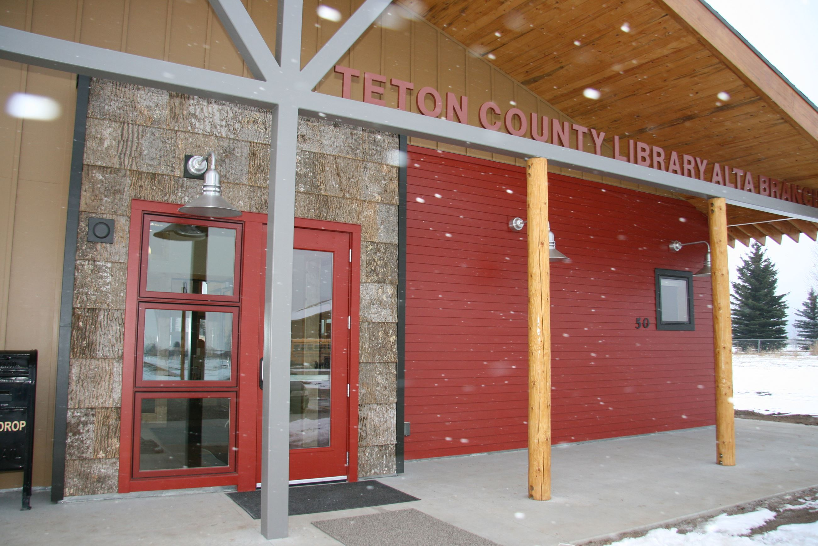 close up image of the exterior of the Alta library