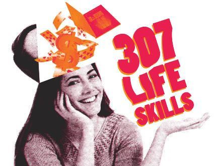image of a young woman and the words 307 Life Skills