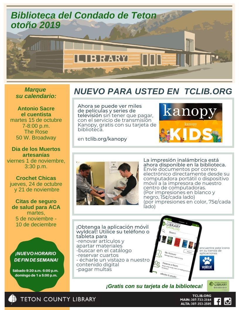 image of Spanish fall newsletter page 1